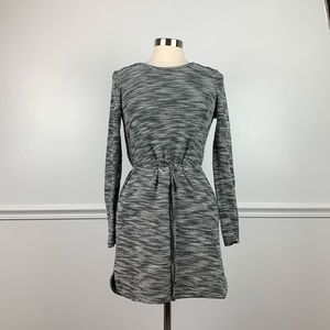 Merona | grey and black sweater dress